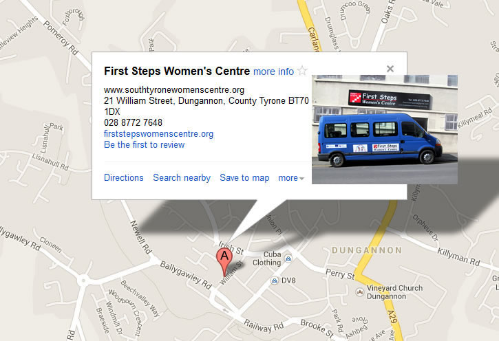 Find First Steps Womens Centre, Dungannon on Google Maps