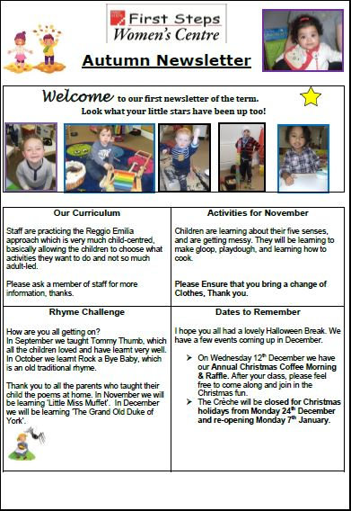 First Steps Childcare Newsletter