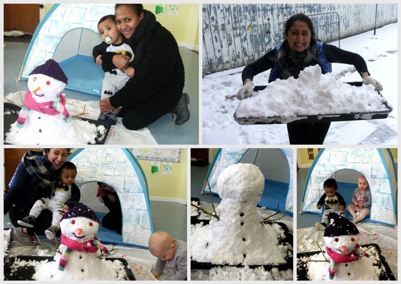 Childcare in the snow